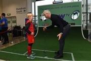 10 November 2019; Former Republic of Ireland International football player Stephen Hunt with Andrew Olliffe-Bolton age 8 from Stepaside Co Dublin in attendance at the launch of the Sports Extra Pass on NOW TV in Dundrum Town Centre on Saturday. The Sports Extra Pass means sports fans can now watch all the action on BT Sport and Premier Sports, including UEFA Champions League, Champions Cup Rugby and Premier League 3pm kick offs, all without a contract. For more information go to www.nowtv.com/ie. Photo by Matt Browne/Sportsfile