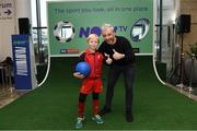10 November 2019; Former Republic of Ireland International football player Stephen Hunt with Andrew Olliffe-Bolton from Stepaside Co Dublin in attendance at the launch of the Sports Extra Pass on NOW TV in Dundrum Town Centre on Saturday. The Sports Extra Pass means sports fans can now watch all the action on BT Sport and Premier Sports, including UEFA Champions League, Champions Cup Rugby and Premier League 3pm kick offs, all without a contract. For more information go to www.nowtv.com/ie. Photo by Matt Browne/Sportsfile