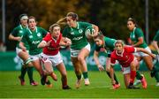 10 November 2019; Eimear Considine of Ireland makes a break during the Women's Rugby International match between Ireland and Wales at the UCD Bowl in Dublin. Photo by David Fitzgerald/Sportsfile