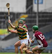 10 November 2019; Calvin Healy of Glen Rovers prepares to clear the sliothar under pressure from Glen Rovers' players David Cunningham and Liam Coughlan during the AIB Munster GAA Hurling Senior Club Championship Semi-Final match between Borris-Ileigh and Glen Rovers at Semple Stadium in Thurles, Tipperary. Photo by Ray McManus/Sportsfile