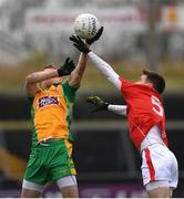 10 November 2019; Gary Sice of Corofin in action against Damien Coleman of Ballintubber St Enda's during the AIB Connacht GAA Football Senior Club Football Championship Semi-Final match between Corofin and Ballintubber St Enda's at Tuam Stadium in Tuam, Galway. Photo by Ramsey Cardy/Sportsfile