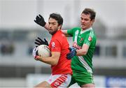 10 November 2019; Brendan Kavanagh of Éire Óg in action against Con Kavanagh of Sarsfields during the AIB Leinster GAA Football Senior Club Championship Quarter-Final match between Éire Óg and Sarsfields at Netwatch Cullen Park in Carlow. Photo by Sam Barnes/Sportsfile