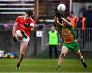 10 November 2019; Diarmuid O'Connor of Ballintubber St Enda's in action against Kieran Molloy of Corofin during the AIB Connacht GAA Football Senior Club Football Championship Semi-Final match between Corofin and Ballintubber St Enda's at Tuam Stadium in Tuam, Galway. Photo by Ramsey Cardy/Sportsfile
