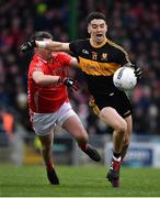 10 November 2019; Tony Brosnan of Dr. Crokes in action against Chris O'Donoghue of East Kerry during the Kerry County Senior Club Football Championship Final match between East Kerry and Dr. Crokes at Austin Stack Park in Tralee, Kerry. Photo by Brendan Moran/Sportsfile