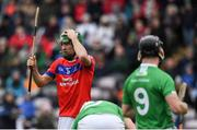 10 November 2019; David Burke of St Thomas' reacts to a missed shot at goal during the Galway County Senior Club Hurling Championship Final match between Liam Mellows and St Thomas' at Pearse Stadium in Galway. Photo by Harry Murphy/Sportsfile