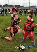 10 November 2019; Man of the Match Pauric Mahony of Ballygunner is joined during his warm-down by supporter Jennifer Malone following the AIB Munster GAA Hurling Senior Club Championship Semi-Final match between Patrickswell and Ballygunner at Walsh Park in Waterford. Photo by Seb Daly/Sportsfile