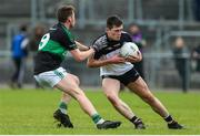 10 November 2019; Sean Murphy of Newcastle West of Newcastle West in action against Ciaran Dalton of Nemo Rangers during the AIB Munster GAA Football Senior Club Championship Quarter-Final match between Nemo Rangers and Newcastle West at Mallow GAA Grounds in Mallow, Cork. Photo by Michael P Ryan/Sportsfile