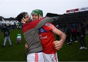 10 November 2019; James Barrett, left, and David Burke of St Thomas' celebrate following the Galway County Senior Club Hurling Championship Final match between Liam Mellows and St Thomas' at Pearse Stadium in Galway. Photo by Harry Murphy/Sportsfile
