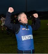 10 November 2019; Slaughtneil manager Michael McShane celebrates after the Ulster GAA Hurling Senior Club Championship Final match between Slaughtneil and Dunloy at Páirc Esler, Newry, Co Down. Photo by Philip Fitzpatrick/Sportsfile