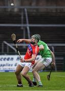 10 November 2019; Fintan Burke of St Thomas' in action against Sean Morrissey of Liam Mellows during the Galway County Senior Club Hurling Championship Final match between Liam Mellows and St Thomas' at Pearse Stadium in Galway. Photo by Harry Murphy/Sportsfile