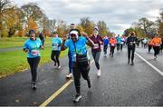 10 November 2019; Runners in action during the Remembrance Run 5k at Phoenix Park in Dublin. Photo by David Fitzgerald/Sportsfile