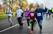 10 November 2019; Robert, right, and Mark Herbert in action during the Remembrance Run 5k at Phoenix Park in Dublin. Photo by David Fitzgerald/Sportsfile