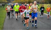 10 November 2019; Connor Jennings and Caroline Farrelly in action during the Remembrance Run 5k at Phoenix Park in Dublin. Photo by David Fitzgerald/Sportsfile