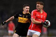 10 November 2019; Niall Donohue of East Kerry in action against David O'Leary of Dr. Crokes during the Kerry County Senior Club Football Championship Final match between East Kerry and Dr. Crokes at Austin Stack Park in Tralee, Kerry. Photo by Brendan Moran/Sportsfile