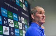 11 November 2019; Senior coach Stuart Lancaster during a Leinster Rugby press conference at Leinster Rugby Headquarters in UCD, Dublin. Photo by Ramsey Cardy/Sportsfile