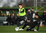 11 November 2019; Lee O'Connor, left, and Troy Parrott during a Republic of Ireland training session at the FAI National Training Centre in Abbotstown, Dublin. Photo by Stephen McCarthy/Sportsfile