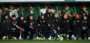 11 November 2019; Republic of Ireland players, from left, John Egan, Sean Maguire, Alan Browne, Jeff Hendrick, Derrick Williams, Enda Stevens, Shane Duffy, Darren Randolph, David McGoldrick and Josh Cullen during a training session at the FAI National Training Centre in Abbotstown, Dublin. Photo by Seb Daly/Sportsfile