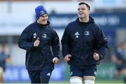 11 November 2019; Jonathan Sexton, left, and James Ryan during Leinster Rugby squad training at Energia Park in Donnybrook, Dublin. Photo by Ramsey Cardy/Sportsfile