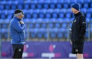 11 November 2019; Scrum coach Robin McBryde, left, in conversation with Head coach Leo Cullen during Leinster Rugby squad training at Energia Park in Donnybrook, Dublin. Photo by Ramsey Cardy/Sportsfile