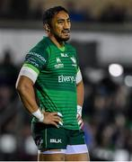 8 November 2019; Bundee Aki of Connacht during the Guinness PRO14 Round 6 match between Connacht and Leinster in the Sportsground in Galway. Photo by Brendan Moran/Sportsfile