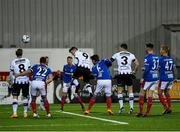 11 November 2019; Patrick Hoban of Dundalk scores his side's sixth goal during the Unite the Union Champions Cup Second Leg match between Dundalk and Linfield at Oriel Park in Dundalk, Louth. Photo by Eóin Noonan/Sportsfile