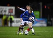 11 November 2019; Charlie Allen of Linfield in action against Dane Massey of Dundalk during the Unite the Union Champions Cup Second Leg match between Dundalk and Linfield at Oriel Park in Dundalk, Louth. Photo by Eóin Noonan/Sportsfile