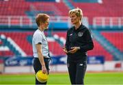 12 November 2019; Republic of Ireland manager Vera Pauw speaks with assistant coach Eileen Gleeson prior to the UEFA Women's 2021 European Championships Qualifier - Group I match between Greece and Republic of Ireland at Nea Smyrni Stadium in Athens, Greece. Photo by Harry Murphy/Sportsfile