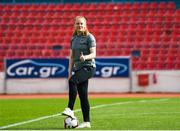 12 November 2019; Amber Barrett of Republic of Ireland walks the pitch prior to the UEFA Women's 2021 European Championships Qualifier - Group I match between Greece and Republic of Ireland at Nea Smyrni Stadium in Athens, Greece. Photo by Harry Murphy/Sportsfile