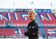 12 November 2019; Republic of Ireland manager Vera Pauw walks the pitch prior to the UEFA Women's 2021 European Championships Qualifier - Group I match between Greece and Republic of Ireland at Nea Smyrni Stadium in Athens, Greece. Photo by Harry Murphy/Sportsfile