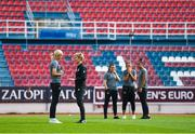 12 November 2019; Stephanie Roche of Republic of Ireland speaks with manager Vera Pauw prior to the UEFA Women's 2021 European Championships Qualifier - Group I match between Greece and Republic of Ireland at Nea Smyrni Stadium in Athens, Greece. Photo by Harry Murphy/Sportsfile