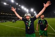 3 November 2019; Roberto Lopes of Shamrock Rovers celebrates following the extra.ie FAI Cup Final between Dundalk and Shamrock Rovers at the Aviva Stadium in Dublin. Photo by Stephen McCarthy/Sportsfile