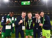 3 November 2019; Shamrock Rovers players following the extra.ie FAI Cup Final between Dundalk and Shamrock Rovers at the Aviva Stadium in Dublin. Photo by Stephen McCarthy/Sportsfile