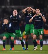 3 November 2019; Shamrock Rovers players react during the extra.ie FAI Cup Final between Dundalk and Shamrock Rovers at the Aviva Stadium in Dublin. Photo by Stephen McCarthy/Sportsfile