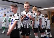 3 November 2019; Dundalk mascots during the extra.ie FAI Cup Final between Dundalk and Shamrock Rovers at the Aviva Stadium in Dublin. Photo by Stephen McCarthy/Sportsfile