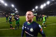 3 November 2019; Jack Byrne of Shamrock Rovers following the extra.ie FAI Cup Final between Dundalk and Shamrock Rovers at the Aviva Stadium in Dublin. Photo by Stephen McCarthy/Sportsfile