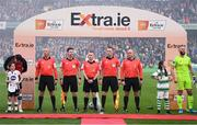 3 November 2019; Match officials, from left, Paul Tuite, Darragh Keefan, Derek Tomney, Rob Clarke and Graham Kelly during the extra.ie FAI Cup Final between Dundalk and Shamrock Rovers at the Aviva Stadium in Dublin. Photo by Stephen McCarthy/Sportsfile