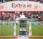 3 November 2019; The FAI Challenge Cup prior to the extra.ie FAI Cup Final between Dundalk and Shamrock Rovers at the Aviva Stadium in Dublin. Photo by Stephen McCarthy/Sportsfile
