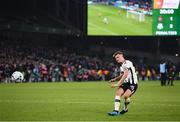 3 November 2019; Daniel Cleary of Dundalk takes a penalty during the extra.ie FAI Cup Final between Dundalk and Shamrock Rovers at the Aviva Stadium in Dublin. Photo by Stephen McCarthy/Sportsfile
