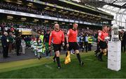 3 November 2019; Match officials during the extra.ie FAI Cup Final between Dundalk and Shamrock Rovers at the Aviva Stadium in Dublin. Photo by Stephen McCarthy/Sportsfile