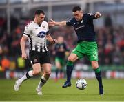 3 November 2019; Aaron Greene of Shamrock Rovers and Brian Gartland of Dundalk during the extra.ie FAI Cup Final between Dundalk and Shamrock Rovers at the Aviva Stadium in Dublin. Photo by Stephen McCarthy/Sportsfile