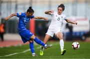 12 November 2019; Kyriaki Kynossidou of Greece in action against Leanne Kiernan of Republic of Ireland during the UEFA Women's 2021 European Championships Qualifier - Group I match between Greece and Republic of Ireland at Nea Smyrni Stadium in Athens, Greece. Photo by Harry Murphy/Sportsfile