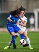 12 November 2019; Christina Kokoviadou of Greece in action against Leanne Kiernan of Republic of Ireland during the UEFA Women's 2021 European Championships Qualifier - Group I match between Greece and Republic of Ireland at Nea Smyrni Stadium in Athens, Greece. Photo by Harry Murphy/Sportsfile