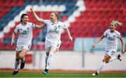 12 November 2019; Amber Barrett of Republic of Ireland celebrates after scoring her side's first goal during the UEFA Women's 2021 European Championships Qualifier - Group I match between Greece and Republic of Ireland at Nea Smyrni Stadium in Athens, Greece. Photo by Harry Murphy/Sportsfile