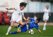 12 November 2019; Leanne Kiernan of Republic of Ireland in action against Kyriaki Kynossidou of Greece during the UEFA Women's 2021 European Championships Qualifier - Group I match between Greece and Republic of Ireland at Nea Smyrni Stadium in Athens, Greece. Photo by Harry Murphy/Sportsfile