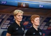 12 November 2019; Republic of Ireland manager Vera Pauw and Republic of Ireland assistant coach Eileen Gleeson prior to the UEFA Women's 2021 European Championships Qualifier - Group I match between Greece and Republic of Ireland at Nea Smyrni Stadium in Athens, Greece. Photo by Harry Murphy/Sportsfile