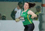 12 November 2019; Team Ireland's Noelle Lenihan from Milford, Cork, in action during the F38 Discus Final during day six of the World Para Athletics Championships 2019 at Dubai Club for People of Determination Stadium in Dubai, United Arab Emirates. Photo by Ben Booth/Sportsfile