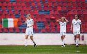 12 November 2019; Diane Caldwell of Republic of Ireland and team-mates react to conceding their side's first goal during the UEFA Women's 2021 European Championships Qualifier - Group I match between Greece and Republic of Ireland at Nea Smyrni Stadium in Athens, Greece. Photo by Harry Murphy/Sportsfile