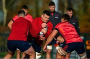12 November 2019; Conor Oliver during a Munster Rugby squad training session at University of Limerick in Limerick. Photo by Brendan Moran/Sportsfile