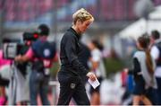 12 November 2019; Republic of Ireland manager Vera Pauw reacts after her side concede a goal during the UEFA Women's 2021 European Championships Qualifier - Group I match between Greece and Republic of Ireland at Nea Smyrni Stadium in Athens, Greece. Photo by Harry Murphy/Sportsfile