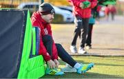 12 November 2019; JJ Hanrahan gets ready for Munster Rugby squad training session at University of Limerick in Limerick. Photo by Brendan Moran/Sportsfile
